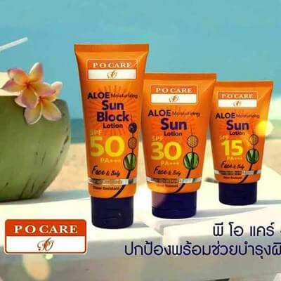 Lotion protection solaire aloe vera spf30 120ml. Po Care