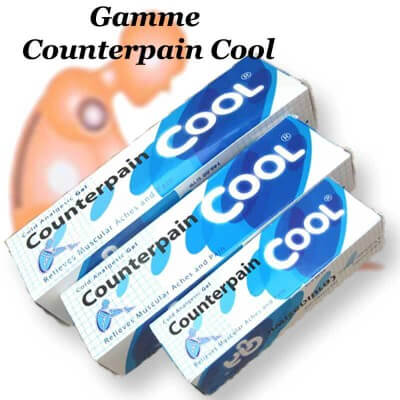 Gel analgésique sensation froid tube 30g Counterpain Cool